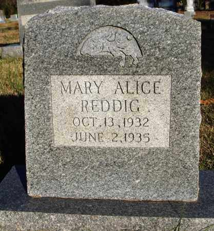 REDDIG, MARY ALICE - Conway County, Arkansas | MARY ALICE REDDIG - Arkansas Gravestone Photos