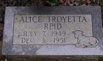 REID, ALICE TROYETTA - Conway County, Arkansas | ALICE TROYETTA REID - Arkansas Gravestone Photos