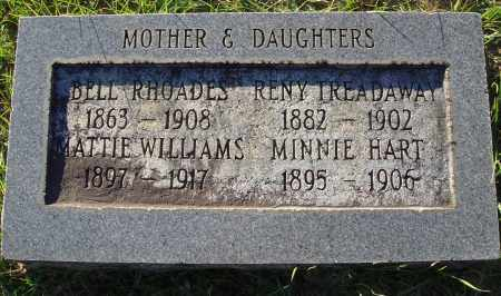 HART WILLIAMS, MATTIE - Conway County, Arkansas | MATTIE HART WILLIAMS - Arkansas Gravestone Photos
