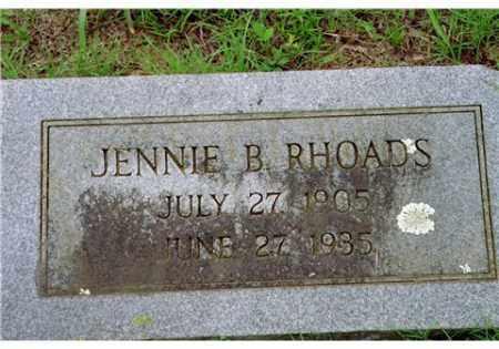 WARD RHOADS, JENNIE BELL - Conway County, Arkansas | JENNIE BELL WARD RHOADS - Arkansas Gravestone Photos