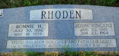 RHODEN, BONNIE H. - Conway County, Arkansas | BONNIE H. RHODEN - Arkansas Gravestone Photos