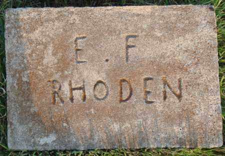 RHODEN, E. F. - Conway County, Arkansas | E. F. RHODEN - Arkansas Gravestone Photos