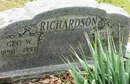 RICHARDSON, GEORGE W - Conway County, Arkansas | GEORGE W RICHARDSON - Arkansas Gravestone Photos