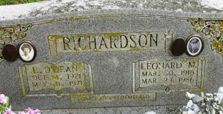 RICHARDSON, L. O'DEAN - Conway County, Arkansas | L. O'DEAN RICHARDSON - Arkansas Gravestone Photos