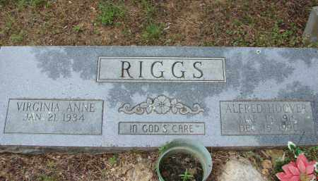 RIGGS, ALFRED HOOVER - Conway County, Arkansas | ALFRED HOOVER RIGGS - Arkansas Gravestone Photos