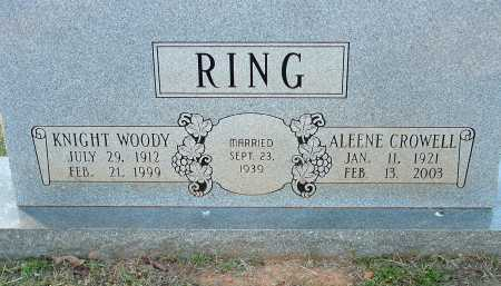RING, KNIGHT WOODY - Conway County, Arkansas | KNIGHT WOODY RING - Arkansas Gravestone Photos