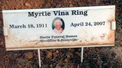 MCKOWN RING, MYRTLE VINA - Conway County, Arkansas | MYRTLE VINA MCKOWN RING - Arkansas Gravestone Photos