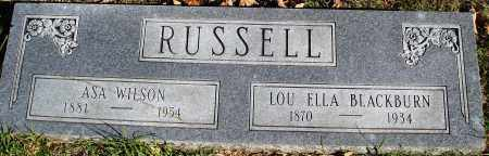 BLACKBURN RUSSELL, LOU ELLA - Conway County, Arkansas | LOU ELLA BLACKBURN RUSSELL - Arkansas Gravestone Photos