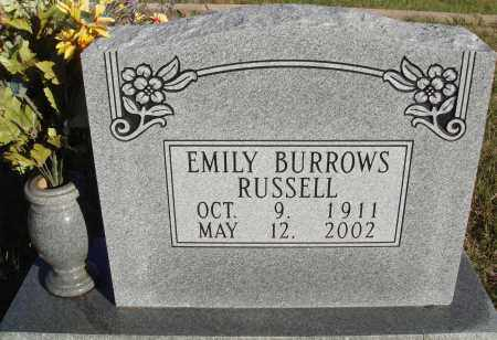 BURROWS RUSSELL, EMILY - Conway County, Arkansas | EMILY BURROWS RUSSELL - Arkansas Gravestone Photos