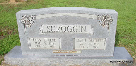 SCROGGIN, WILLIE MARIE - Conway County, Arkansas | WILLIE MARIE SCROGGIN - Arkansas Gravestone Photos