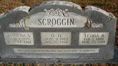 SCROGGIN, D. Q. - Conway County, Arkansas | D. Q. SCROGGIN - Arkansas Gravestone Photos
