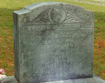 SCROGGIN, THOMAS W. - Conway County, Arkansas | THOMAS W. SCROGGIN - Arkansas Gravestone Photos