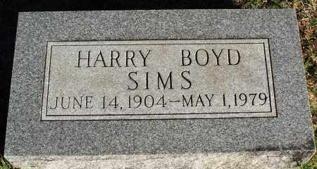 SIMS, HARRY BOYD - Conway County, Arkansas | HARRY BOYD SIMS - Arkansas Gravestone Photos