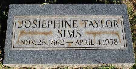 TAYLOR SIMS, JOSIEPHINE - Conway County, Arkansas | JOSIEPHINE TAYLOR SIMS - Arkansas Gravestone Photos