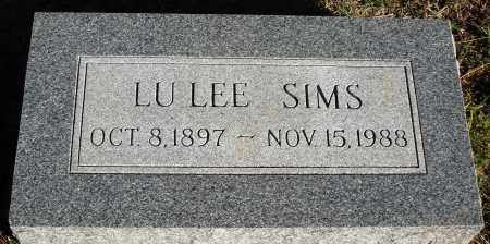 SIMS, LU LEE - Conway County, Arkansas | LU LEE SIMS - Arkansas Gravestone Photos