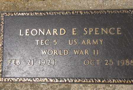 SPENCE (VETERAN WWII), LEONARD E - Conway County, Arkansas | LEONARD E SPENCE (VETERAN WWII) - Arkansas Gravestone Photos