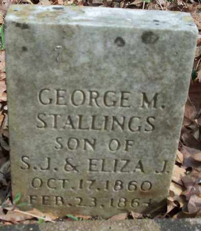 STALLINGS, GEORGE M - Conway County, Arkansas | GEORGE M STALLINGS - Arkansas Gravestone Photos