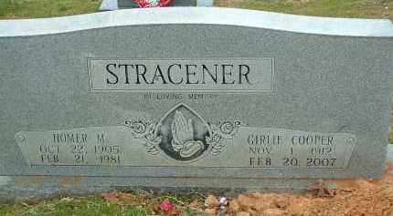 COOPER STRACENER, GIRLIE JEWELL - Conway County, Arkansas | GIRLIE JEWELL COOPER STRACENER - Arkansas Gravestone Photos