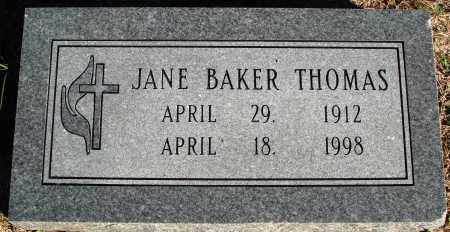 THOMAS, JANE - Conway County, Arkansas | JANE THOMAS - Arkansas Gravestone Photos
