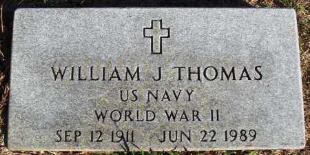 THOMAS (VETERAN WWII), WILLIAM J - Conway County, Arkansas | WILLIAM J THOMAS (VETERAN WWII) - Arkansas Gravestone Photos
