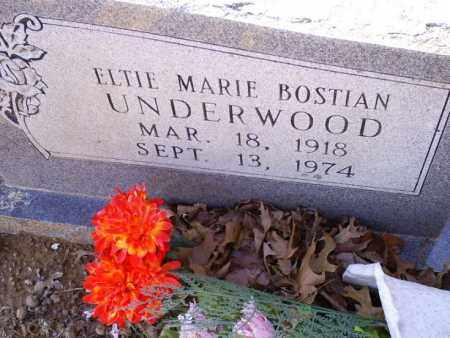 BOSTIAN UNDERWOOD, ELTIE MARIE - Conway County, Arkansas | ELTIE MARIE BOSTIAN UNDERWOOD - Arkansas Gravestone Photos