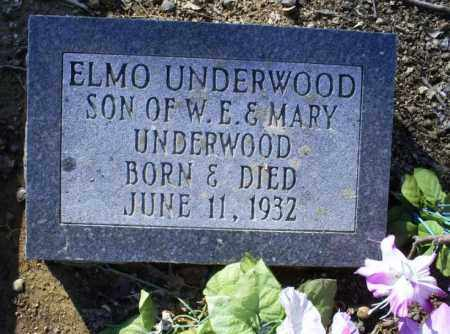 UNDERWOOD, ELMO - Conway County, Arkansas | ELMO UNDERWOOD - Arkansas Gravestone Photos