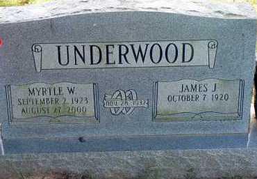UNDERWOOD, MYRTLE W. - Conway County, Arkansas | MYRTLE W. UNDERWOOD - Arkansas Gravestone Photos