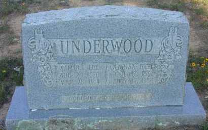 UNDERWOOD, CLARISA (CLARISA LENORA) - Conway County, Arkansas | CLARISA (CLARISA LENORA) UNDERWOOD - Arkansas Gravestone Photos