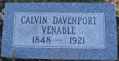 VENABLE, CALVIN DAVENPORT - Conway County, Arkansas | CALVIN DAVENPORT VENABLE - Arkansas Gravestone Photos