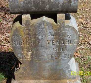 HOBBS VENABLE, SUSAN FANY - Conway County, Arkansas | SUSAN FANY HOBBS VENABLE - Arkansas Gravestone Photos