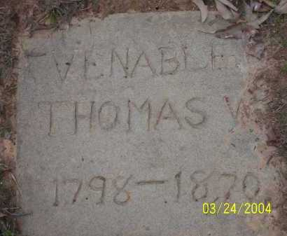 VENABLE, THOMAS W. - Conway County, Arkansas | THOMAS W. VENABLE - Arkansas Gravestone Photos