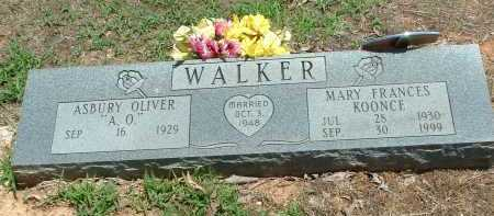 WALKER, MARY FRANCES - Conway County, Arkansas | MARY FRANCES WALKER - Arkansas Gravestone Photos