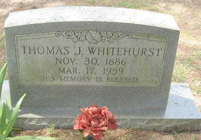 WHITEHURST, THOMAS J - Conway County, Arkansas | THOMAS J WHITEHURST - Arkansas Gravestone Photos
