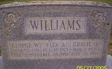 WILLIAMS, GRACIE J. - Conway County, Arkansas | GRACIE J. WILLIAMS - Arkansas Gravestone Photos