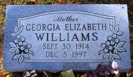 WILLIAMS, GEORGIA ELIZABETH - Conway County, Arkansas | GEORGIA ELIZABETH WILLIAMS - Arkansas Gravestone Photos