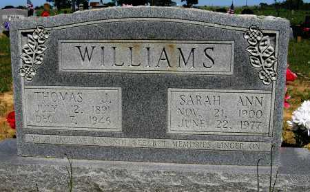WILLIAMS, THOMAS J - Conway County, Arkansas | THOMAS J WILLIAMS - Arkansas Gravestone Photos