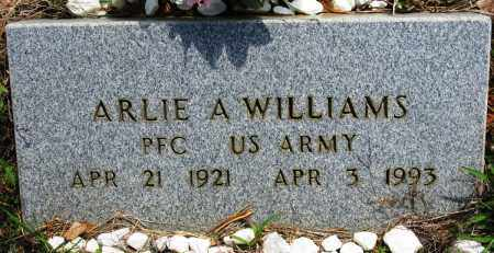 WILLIAMS (VETERAN), ARLIE A - Conway County, Arkansas | ARLIE A WILLIAMS (VETERAN) - Arkansas Gravestone Photos