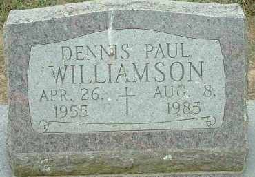 WILLIAMSON, DENNIS PAUL - Conway County, Arkansas | DENNIS PAUL WILLIAMSON - Arkansas Gravestone Photos