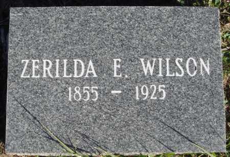 WILSON, ZERILDA E. - Conway County, Arkansas | ZERILDA E. WILSON - Arkansas Gravestone Photos