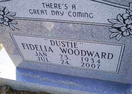 WODWARD, 'DUSTIE' FIDELIA - Conway County, Arkansas | 'DUSTIE' FIDELIA WODWARD - Arkansas Gravestone Photos