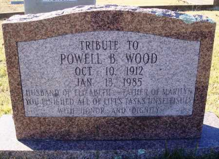 WOOD, POWELL B. - Conway County, Arkansas | POWELL B. WOOD - Arkansas Gravestone Photos