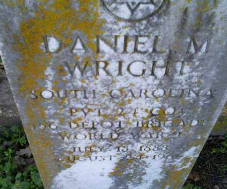 WRIGHT (VETERAN WWI), DANIEL M - Conway County, Arkansas | DANIEL M WRIGHT (VETERAN WWI) - Arkansas Gravestone Photos