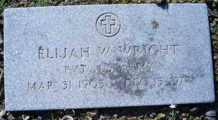 WRIGHT (VETERAN), ELIJAH W - Conway County, Arkansas | ELIJAH W WRIGHT (VETERAN) - Arkansas Gravestone Photos
