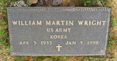 WRIGHT  (VETERAN KOR), WILLIAM MARTIN - Conway County, Arkansas | WILLIAM MARTIN WRIGHT  (VETERAN KOR) - Arkansas Gravestone Photos