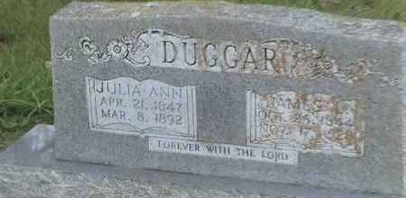 DUGGAR, JULIA ANN - Conway County, Arkansas | JULIA ANN DUGGAR - Arkansas Gravestone Photos