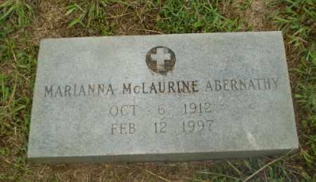 MCLAURINE ABERNATHY, MARIANNA - Craighead County, Arkansas | MARIANNA MCLAURINE ABERNATHY - Arkansas Gravestone Photos
