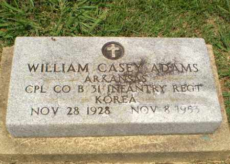 ADAMS  (VETERAN KOR), WILLIAM CASEY - Craighead County, Arkansas | WILLIAM CASEY ADAMS  (VETERAN KOR) - Arkansas Gravestone Photos