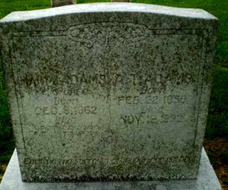 ADAMS, MARY - Craighead County, Arkansas | MARY ADAMS - Arkansas Gravestone Photos