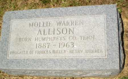 WARREN ALLISON, MOLLIE - Craighead County, Arkansas | MOLLIE WARREN ALLISON - Arkansas Gravestone Photos