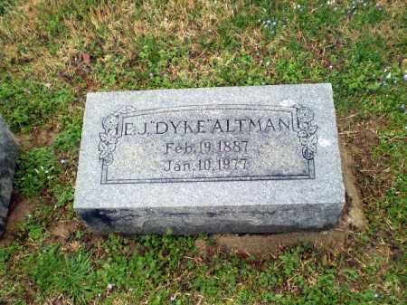 "ALTMAN, E J ""DYKE"" - Craighead County, Arkansas 